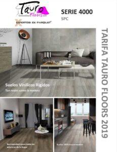portada catálogo suelo vinílico WPC Tauro Floors